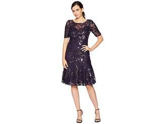 Adrianna Papell Sequin Short Dress