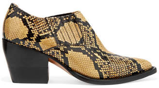 Chloé Rylee Snake-effect Leather Ankle Boots - Snake print