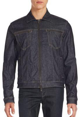 Cotton Blend Denim Jacket $198 thestylecure.com