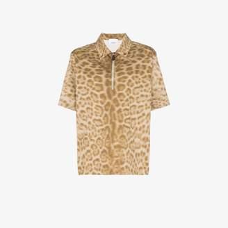 Burberry short-sleeve animal print shirt