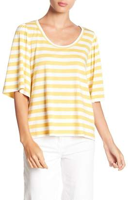 14th & Union Stripe Bell Sleeve Top (Regular & Petite)
