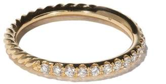 David Yurman 18kt yellow gold DY Unity Pavé diamond wedding band