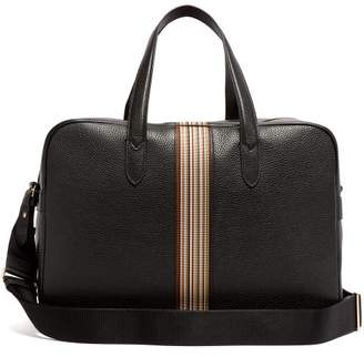 Paul Smith Signature Stripe Leather Weekend Bag - Mens - Black