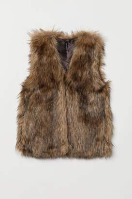 H&M Faux Fur Vest - Beige