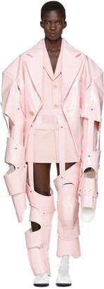 Comme des Garçons Pink Cut-Out Vinyl Suit $10,835 thestylecure.com