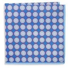 Ike Behar Silk Polka Dot Pocket Square
