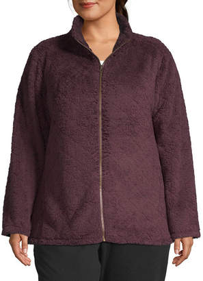 ST. JOHN'S BAY SJB ACTIVE Active Plush Quilted Jacket - Plus