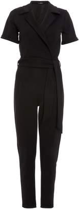 4f7a67de43 Next Womens Quiz Lapel Tie Belt Tapered Leg Jumpsuit