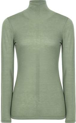 Reiss Amberly - Wool Cashmere Blend Rollneck Top in Sage Green