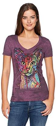 The Mountain Women's Tri-Blend V-Neck Abyssinian