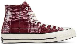 Converse Chuck Taylor All-Star 70s Hi Plaid Pack Dark Burgundy