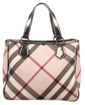 4496464bce8a Burberry Nova Check Leather-Trimmed Shoulder Bag
