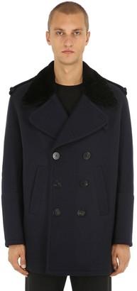 Neil Barrett Double Breasted Wool & Shearling Coat