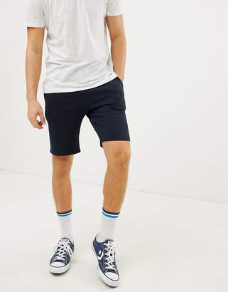 New Look jersey shorts in navy