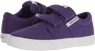 Supra Kids Stacks Vulc II Hook Loop Boy's Shoes