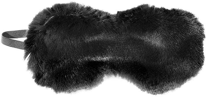 Onyx Mink Faux Fur Sleep Mask