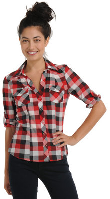 Fab Snap Button Plaid Shirt