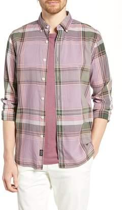 Todd Snyder Slim Fit Madras Plaid Cotton Sport Shirt