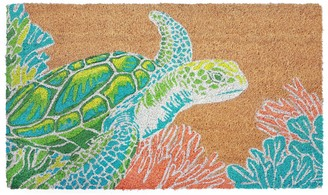 Liora Manné Natura Sea Turtle Indoor Outdoor Coir Doormat - 18'' x 30''