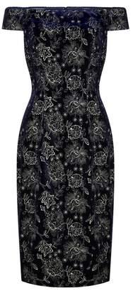 Adrianna Papell Velvet Short Dress