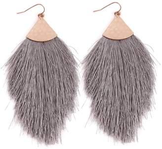 Riah Fashion Fringed Tassel Earrings