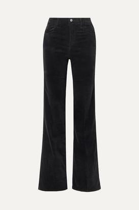 J Brand Joan Velvet Wide-leg Pants - Black