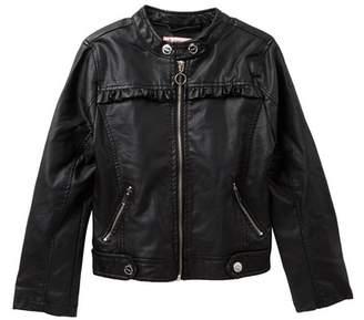 Urban Republic Faux Leather Scuba Jacket (Big Girls)