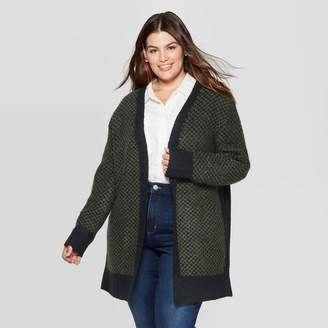 Universal Thread Women's Plus Size Long Sleeve Open Layering Cardigan Olive