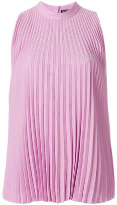 Salvatore Ferragamo sleeveless pleated blouse