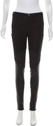 Gucci Mid-Rise Leather & Wool Pants