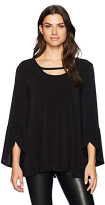 Chaus Women's Tulip SLV Top with Cutout