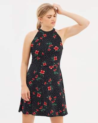 Oasis Poppy Flippy Dress