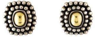 Lagos Two-Tone Caviar Earclip Earrings