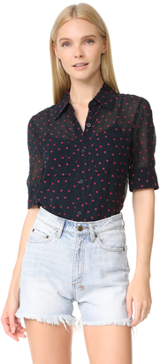 DKNY Embroidered Shirt $199 thestylecure.com