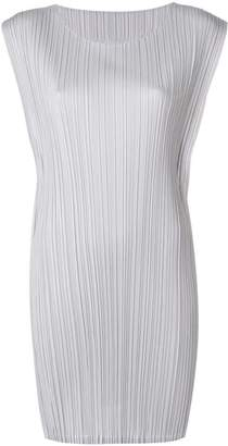 Pleats Please Issey Miyake short pleated dress