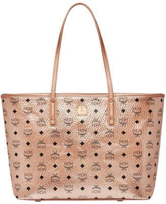 MCM Anya Medium Visetos Zip Shopper Tote Bag