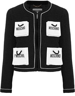 Moschino Printed Cotton-Blend Tweed Jacket