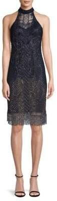 Parker Black Polly Embellished Choker Dress