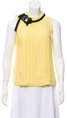 Robert Rodriguez Embellished Sleeveless Blouse w/ Tags