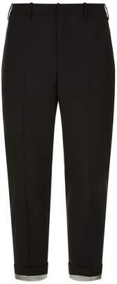 Neil Barrett Silver Cuff Trousers