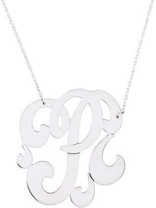 Jennifer Zeuner Jewelry Emily Large Swirly Initial P Pendant Necklace
