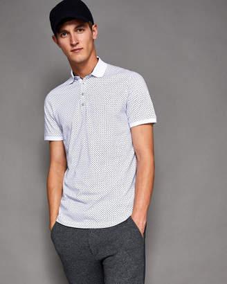 Ted Baker BOXER Geo print cotton polo shirt