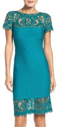 Women's Tadashi Shoji Mesh & Jersey Dress $348 thestylecure.com