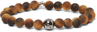 Tateossian Tiger's Eye Bead and Sterling Silver Bracelet