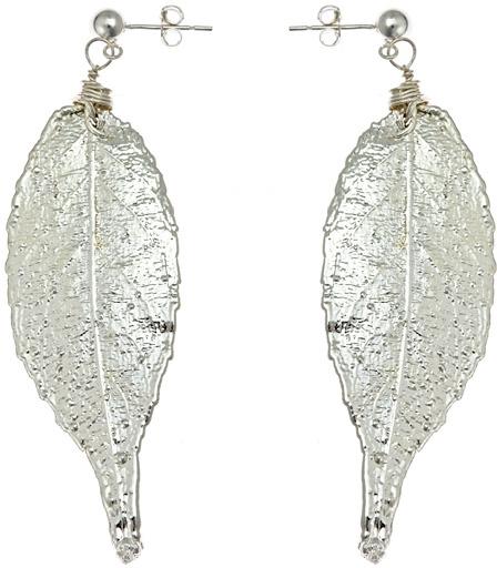 Nugaard Designs Silver Jequitiba Leaf Earrings