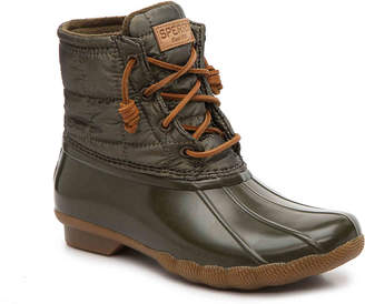 Sperry Saltwater Shiny Quilted Duck Boot - Women's