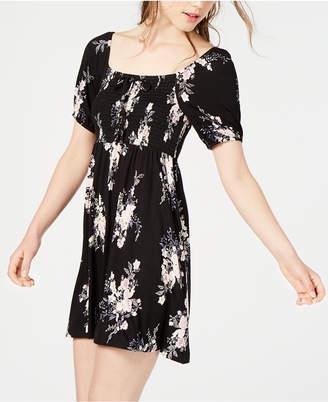 American Rag Juniors' Printed Smocked Fit & Flare Dress