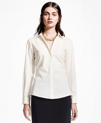 Silk Collar and Cuff Dress Shirt $168 thestylecure.com