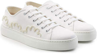 Simone Rocha Embellished Canvas Sneakers