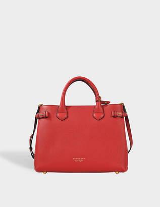 Burberry Medium Banner Bag in Russet Red Metallic Calfskin